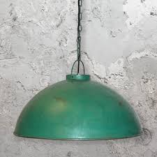 large green rustic pendant light