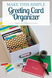 looking for an easy way to organize greeting cards this organized greeting card box is