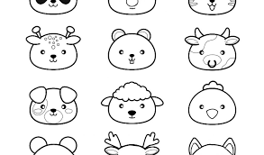 Hidden Animali Disegni Da Colorare Per Adulti Con Disegni Kawaii