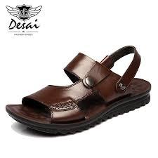 Brand 2010 Summer <b>Men's Sandals</b> Genuine Leather <b>Outdoor</b> ...
