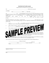 picture of california notice of lien forms