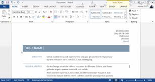 How To Create A Resume On Word Custom How To Create A Professional Resume For Free With Word 28