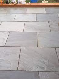 gray indian sandstone paving slabs