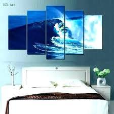 surfer wall art themed bedroom decor ideas surf room