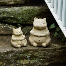 zen cat garden sculpture 1 thumbnail