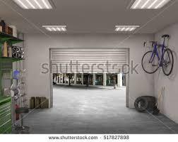 garage interior. Garage Interior; 3d Illustration Interior R