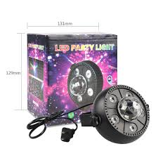 Bp Sound And Lighting Us 13 38 25 Off 9w Led Rgb Mini Stage Light Sound Activated Auto Rotatable Christmas Dance Party Projector Decoration Laser Light 220v 110v In Stage
