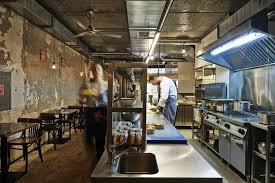 The Images Collection of Open kitchen restaurant decor ideas 17