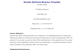 Cocktail Waitress Job Description For Resume Brilliant Cover Letter For Waitressing Jobs Also Waitress Resume 80