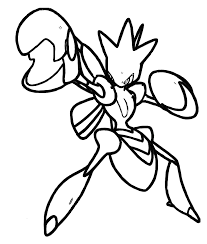 Pokemon Scizor Coloring Pages Coloring Home