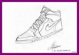 Jordan Coloring Pages Shoes Baffling New Air Jordan Shoes Coloring