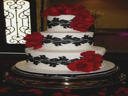 Black White And Red Rose Wedding Cakes Archives Decorating Of