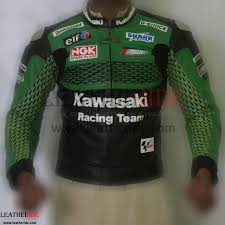 kawasaki leather facket features 1 2 1 3 mm thick drum dyed top grain cowhide leather for excellent abrasion resistance
