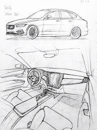 852x1136 car drawing 151206 2015 volvo s60 prisma on paper kim j h cars