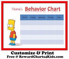behavior charts bart simpson