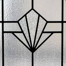 plain art deco stained glass panel