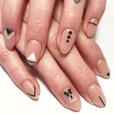 Simple Geometric Nail Designs Pin By Jamie Burgess On Summer Nail Trends Geometric Nail