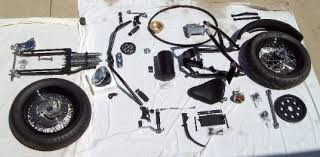 complete scratch chopper motorcycle builders kit contains