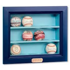 wooden baseball display case