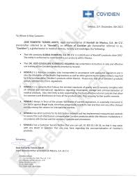 Covidien Surgical Products Certification Letter Beliteweight