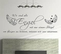 Wandtattoo Sprüche Wir Sind Alle Engel 160cm Schlafzimmer Zitate
