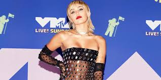 Miley Cyrus wears <b>see</b>-<b>through dress</b> at the 2020 MTV Video Music ...