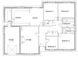 bungalow floor plans. 3 Bedroom Bungalow Plans Simple Floor 4 Design Ideas Info Open 8