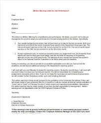 Warning Letter Classy 44 Employee Warning Letter Template PDF DOC Free Premium