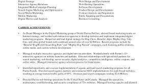 Digital Marketing Resume Template Job Resume Template For High