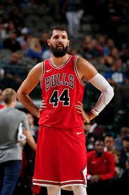 nikola mirotic bulls. Brilliant Nikola Nikola Mirotic 44 Of The Chicago Bulls Looks On During Game Against  Dallas Intended M