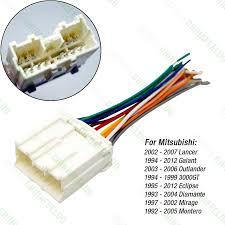 online get cheap mitsubishi wiring harness com 10pcs car radio stereo wiring harness adapter for mitsubishi lancer galant outlander 3000gt