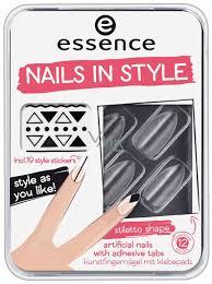 Essence Nails In Style Umělé Nehty 04 Clear For You 12 Kusů