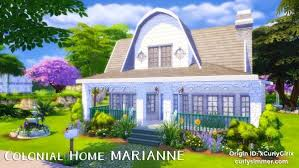 Curly Simmer: Colonial Home Marianne • Sims 4 Downloads | Colonial house,  Colonial, Sims 4 houses
