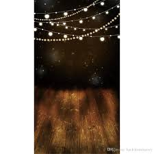 2019 digital printed shining bulbs glitter stars night photography backdrops vinyl kids children photo background brown wood floor from backdropsfactory