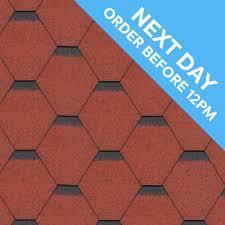 3 tab shingles red. Wonderful Red APEX Hexagonal Bitumen Shingles  3 Tab 21 Sheets 3m Red  Roofinglines Intended