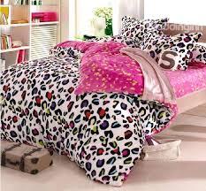 leopard print bedding warm c fleece material colorful leopard print 4 piece bedding for duvet covers leopard print bedding cheetah print bed set
