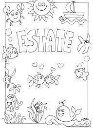 Disegni Da Colorare Estate Scuola Infanzia Fredrotgans