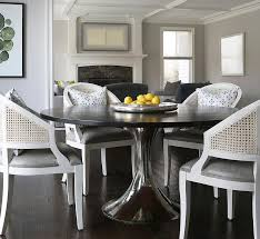 table with white cane dining chairs view full size