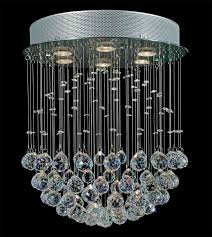 elegant chandeliers elegant lighting mirrored furniture silver circle with fall bubble crystal lamp jpg