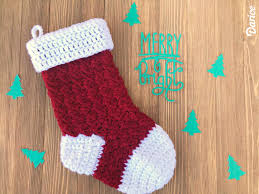 Crochet Stocking Pattern Enchanting Free Crochet Stocking Pattern Step By Step Darice