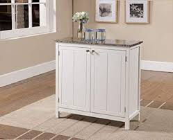 Kitchen marble top Thick Kings Brand White With Marble Finish Top Kitchen Island Storage Cabinet Dirtyoldtownco Amazoncom Kings Brand White With Marble Finish Top Kitchen Island