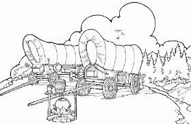 pioneer wagon drawing. covered wagon pioneer drawing