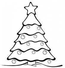 Christmas Tree Coloring Page With Ornaments Printable Coloring