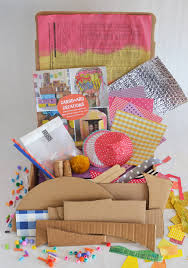 make this open ended diy art kit with cardboard recycled materials collage