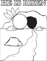 The Resurrection Of Jesus Christ Coloring Page Childrens Church
