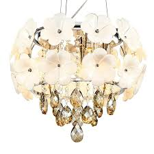 crystal drum chandelier with fl