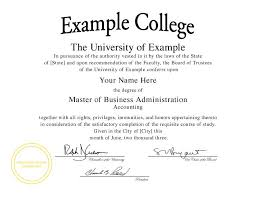 Download Sample Of Mba Certificate New Excellent College Degree ...