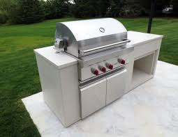 outdoor bbq wolf grill countertop fabricated by trueform concrete