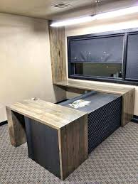 custom home office furnit. Custom Office Desk Wood Is Reclaimed 1 X 5 Tongue A Groove Flooring Circa With . Home Furnit
