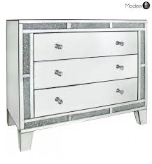 Mirrored crystal chest of drawers, high quality bedroom mirrored furniture